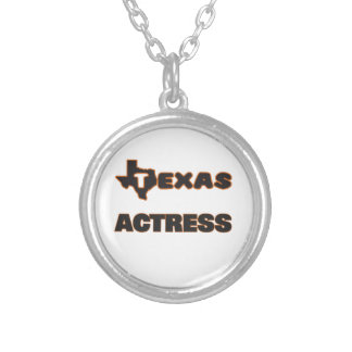 Texas Actress Round Pendant Necklace