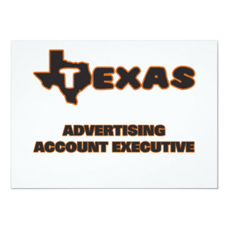 Texas Advertising Account Executive 5x7 Paper Invitation Card