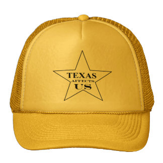 TEXAS AFFECTS US small logo hat