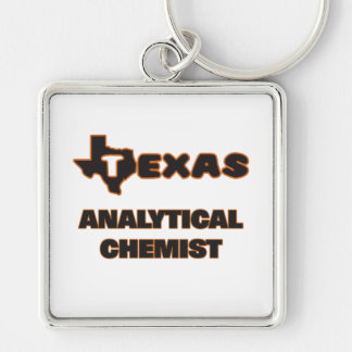 Texas Analytical Chemist Silver-Colored Square Key Ring