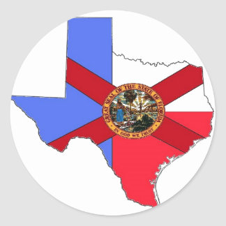 Texas and Florida Stickers