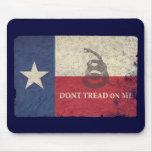 Texas and Gadsden Flag Mousepad
