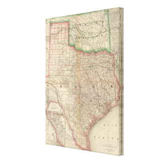 Texas and Indian Territory Canvas Print