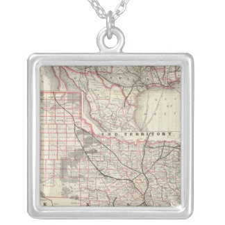 Texas and Mexico, Houston Silver Plated Necklace