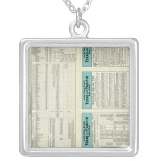 Texas and Pacific Railway Silver Plated Necklace