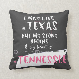 Texas and Tennessee Cushion