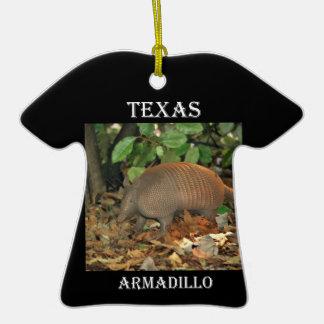 Texas Armadillo Christmas Ornament