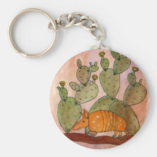Texas Armadillo Key Ring