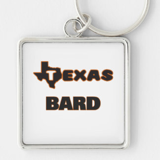 Texas Bard Silver-Colored Square Key Ring