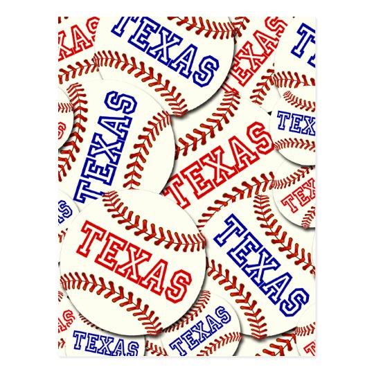 Texas Baseballs Collage Postcard