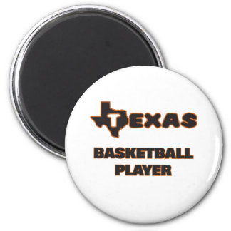 Texas Basketball Player 6 Cm Round Magnet