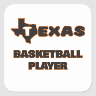 Texas Basketball Player Square Sticker