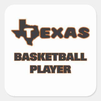 Texas Basketball Player Square Sticker