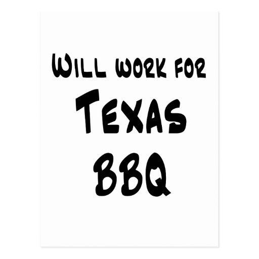 Texas BBQ Post Card