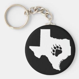 Texas Bear Paw Key Ring