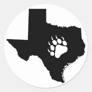 Texas Bear Round Sticker