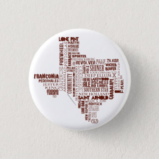 Texas Beer Button in burgundy