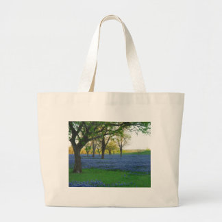 Texas Blue Bonnets Large Tote Bag
