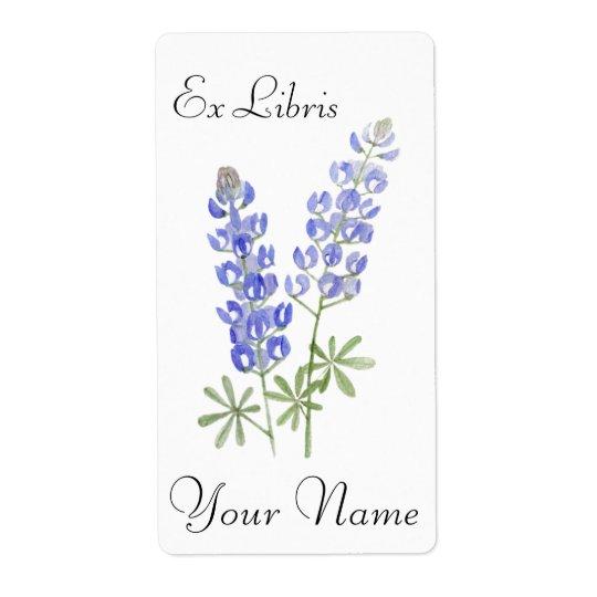 Texas Bluebonnets Book Plate Sticker