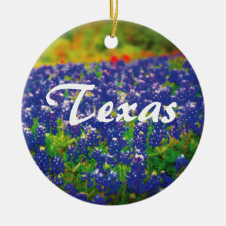 Texas Bluebonnets Christmas Ornament