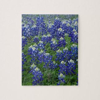 Texas Bluebonnets Field Photo Jigsaw Puzzle