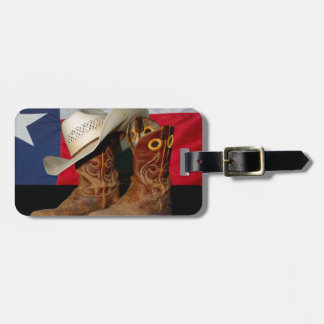 Texas Boots and Hat.jpg Luggage Tag