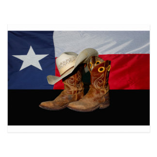 Texas Boots and Hat.jpg Post Card