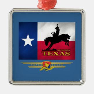 Texas Born & Bred Silver-Colored Square Decoration
