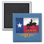 Texas Born & Bred Square Magnet