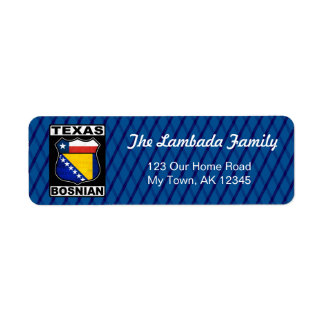 Texas Bosnian American Address Labels