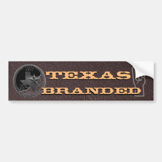 Texas Branded Longhorn gesture Bumper Sticker