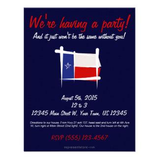 Texas Brush Flag Invitations