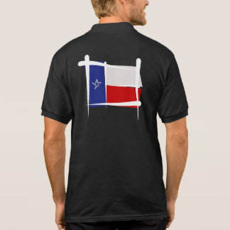 Texas Brush Flag Polo T-shirt