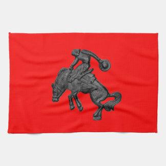 Texas Bucking Horse Cowboy .jpg Tea Towel