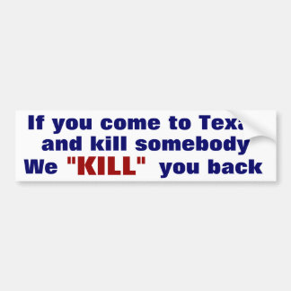 Texas Bumper Sticker
