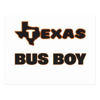 Texas Bus Boy Postcard