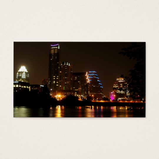 Texas Business Card Austin Lights