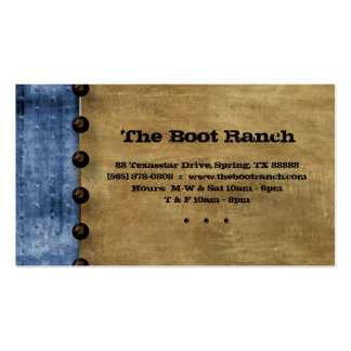 Texas Business Card Blue Denim Jean Star