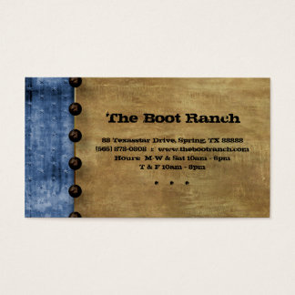 Texas Business Card Blue Denim Jean Star