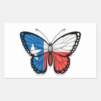 Texas Butterfly Flag Rectangular Stickers