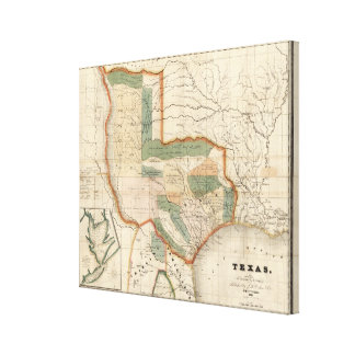 Texas, By David H Burr Canvas Print