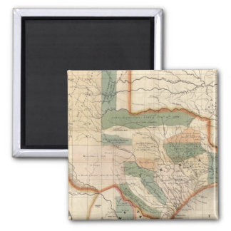 Texas, By David H Burr Square Magnet