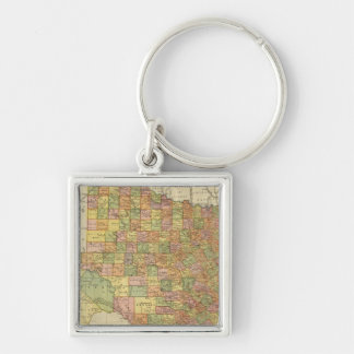 Texas by Rand McNally Silver-Colored Square Key Ring