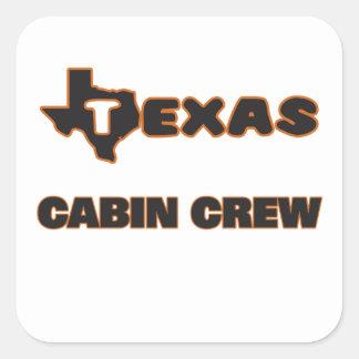 Texas Cabin Crew Square Sticker