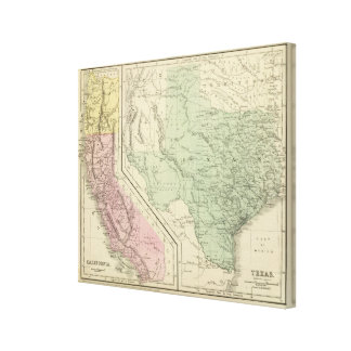 Texas, California Stretched Canvas Print