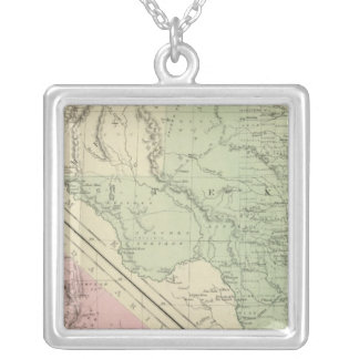 Texas, California Silver Plated Necklace