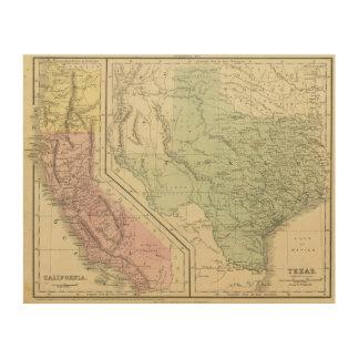 Texas, California Wood Print