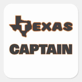 Texas Captain Square Sticker