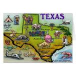 TEXAS Cartoon Map Greeting Card
