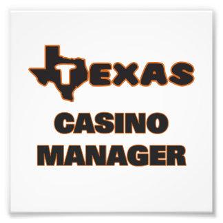 Texas Casino Manager Photographic Print
